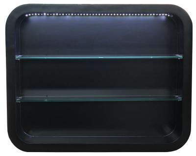 2032 Wandvitrine LOCARNO mit LED Schleiflack schwarz - Vorschau 1