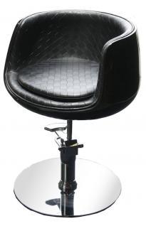 1895 Frisierstuhl PALIANO Rahmen schwarz, PVC schwarz - Vorschau 1