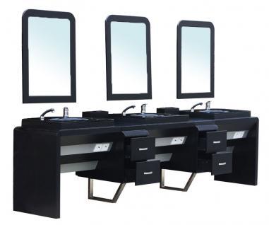 4510 System-Arbeitsplatz ORISTANO (Erweitertes Modul 3er) Schleiflack schwarz - Vorschau 2