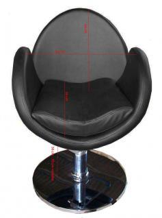 1159 Frisierstuhl TORINO schwarz - Vorschau 3