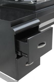 4510 System-Arbeitsplatz ORISTANO (Erweitertes Modul 3er) Schleiflack schwarz - Vorschau 3