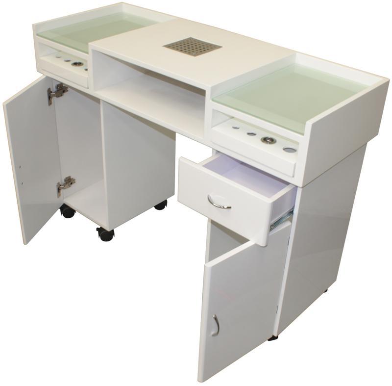 2011 manik retisch mit absaugung wei kaufen bei 3 2 1 0 deins warenhandel gmbh. Black Bedroom Furniture Sets. Home Design Ideas