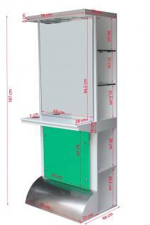 2026 Spiegel AOSTA einseitig mit LED, Schleiflack weiss - Vorschau 4