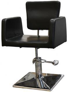 1164 Frisierstuhl GENOVA schwarz - Vorschau 1