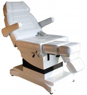 1444 Luxus-Fußpflegestuhl elektrisch weiß 3 Motoren - Vorschau 1