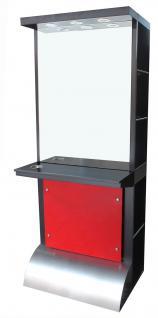 2026 Spiegel AOSTA einseitig mit LED, Schleiflack schwarz - Vorschau 1
