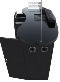 1072 Maniküre-Tresen mit Absaugung Schleiflack schwarz (V.1) - Vorschau 3