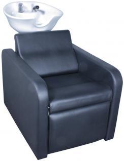1974 Rückwärtswaschanlage GROSSETO Sockel schwarz / Sitz schwarz / Becken weiß - Vorschau 2