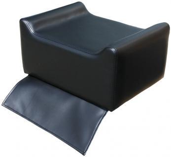 1313 Kinder-Sitzerhöhung für Frisierstuhl schwarz - Vorschau