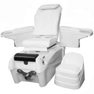 1476 SPA Fußpflegestuhl mit Massage / Sitz weiss - Vorschau 1