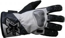 Motorrad-Handschuh XTREME-4 schwarz-weiss-grau