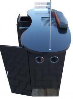 1072 Maniküre-Tresen mit Absaugung Schleiflack schwarz (V.1) - Vorschau 4