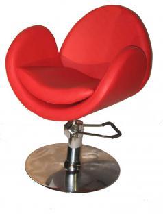 1159 Friseurstuhl Figaro TORINO rot - Vorschau 1
