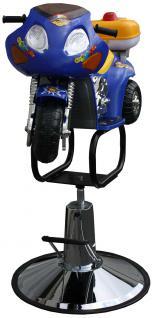 1311 Kinder-Friseurstuhl Motorrad blau-gelb
