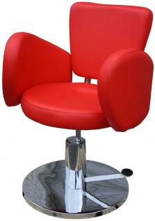 1367 Friseurstuhl Figaro CESANO rot - Vorschau 1