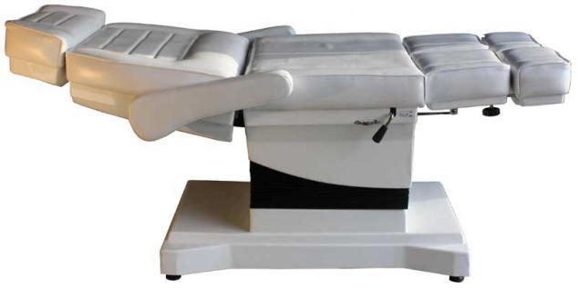 1444 Luxus-Fußpflegestuhl elektrisch weiß 3 Motoren - Vorschau 3