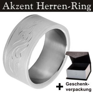 EDELSTAHLRING Marke Akzent Herren Ring Gr. 66