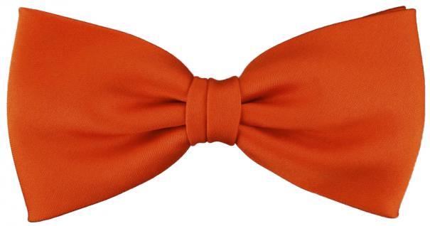 vorgebundene TigerTie Satin Fliege in orange Uni einfarbig + Geschenkbox