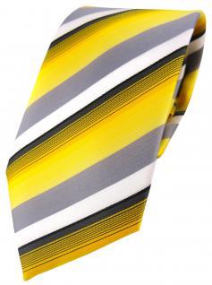 TigerTie Designer Krawatte in gelb grau weiss schwarz anthrazit gestreift