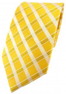 Tiger Designer Seidenkrawatte gelb gold silber kariert - Krawatte Seide Silk