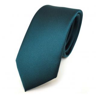 schmale TigerTie Krawatte in grün dunkelgrün uni fein Rips Polyester