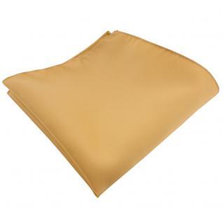 schönes Satin Einstecktuch in gold Uni - Tuch 100% Polyester