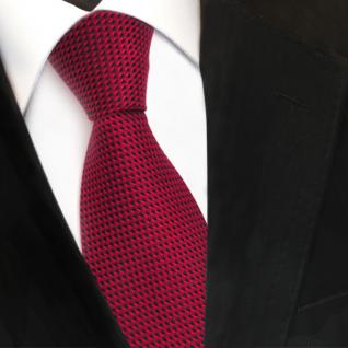 Designer Seidenkrawatte rot signalrot schwarz gemustert - Krawatte Seide Silk