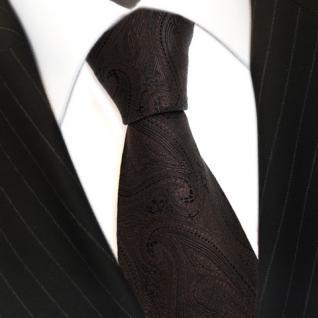TigerTie Seidenkrawatte in braun paisley Muster - Krawatte 100% Seide Tie Silk
