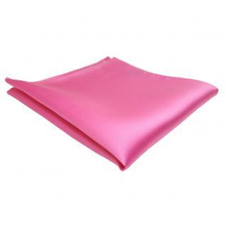 schönes TigerTie Einstecktuch rosa pink einfarbig - Tuch Polyester