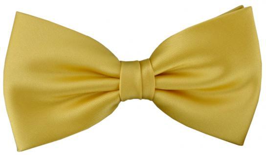 vorgebundene TigerTie Fliege Schleife in gelbgold Einfarbig Uni + Geschenkbox