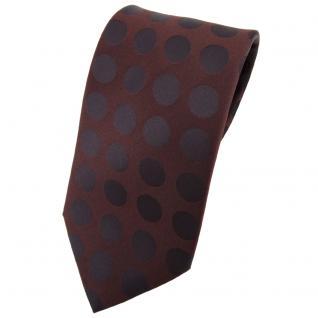 Designer Seidenkrawatte braun dunkelbraun gepunktet - Krawatte Seide Binder