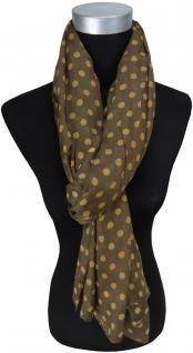 Schal in braun ockerbraun gepunktet - Gr. 190 x 100 cm - Tuch Halstuch