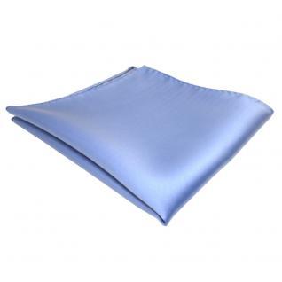 schönes TigerTie Einstecktuch blau hellblau einfarbig - Tuch Polyester