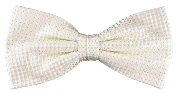 Designer Seidenfliege perlmutt creme grau gemustert - Fliege Seide Silk