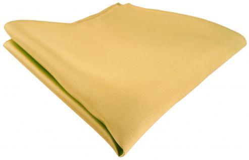 TigerTie Satin Seideneinstecktuch in gold hellgold - Einstecktuch 100% Seide
