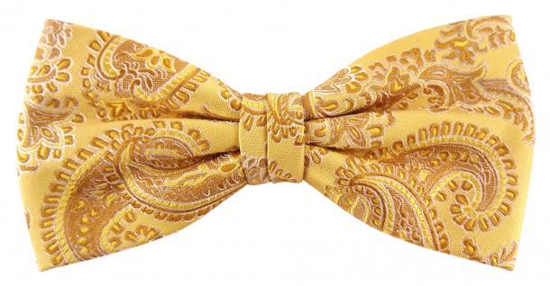 Designer Seidenfliege gold gelbgold silber gemustert - Fliege Seide Silk