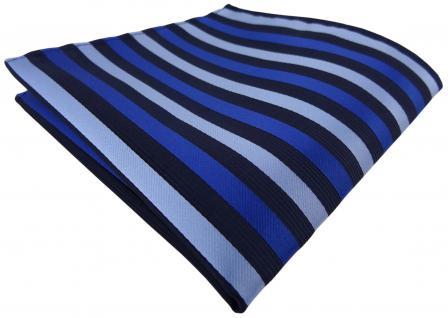 Einstecktuch in blau dunkelblau gestreift - Tuch Polyester Gr. 25 x 25 cm