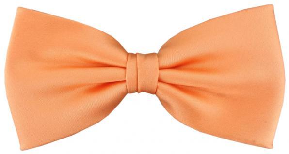 vorgebundene TigerTie Satin Fliege lachs orange Uni einfarbig + Geschenkbox