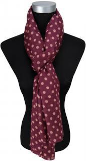 Schal in bordeaux rosé gepunktet - Gr. 190 x 100 cm - Tuch Halstuch