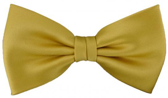 vorgebundene TigerTie Fliege Schleife in gold Einfarbig Uni + Geschenkbox