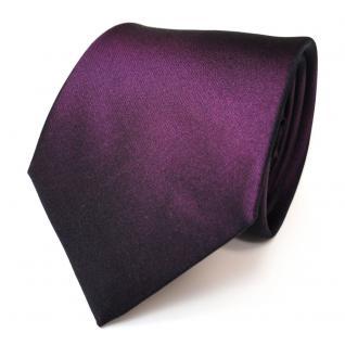 Elegante TigerTie Seidenkrawatte lila violett Uni - Krawatte Seide Binder Tie
