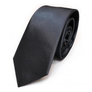 Schmale Designer Seidenkrawatte anthrazit grau Uni - Krawatte Seide Binder Tie
