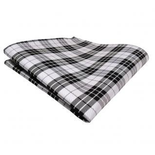 schönes Einstecktuch schwarz anthrazit grau silber gestreift - Tuch Polyester