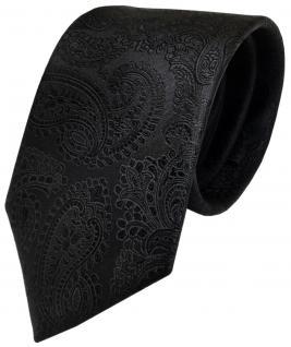 Designer Krawatte schwarz Paisley reine Seide / Silk