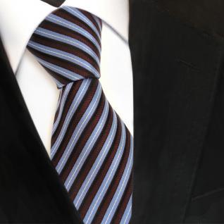 Designer Seidenkrawatte blau rot bordeaux silber gestreift - Krawatte Seide Tie