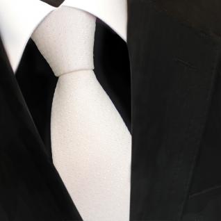 Designer Seidenkrawatte weiss cremeweiss gepunktet - Krawatte Seide Silk Tie