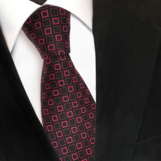 Designer Seidenkrawatte rot schwarz gemustert - Krawatte Seide Silk