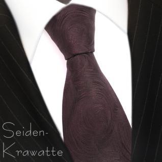 schöne Seidenkrawatte in braun dunkelbraun gemustert - Krawatte 100% Seide Silk