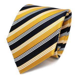 Designer Seidenkrawatte Gelb Sonnengelb Goldgelb Blau