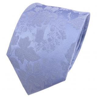 TigerTie Designer Seidenkrawatte blau hellblau gemustert - Krawatte Seide